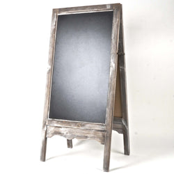 WIDE DOUBLE SIDED FLOOR STANDING CHALKBOARD STAND, WASHED GREY
