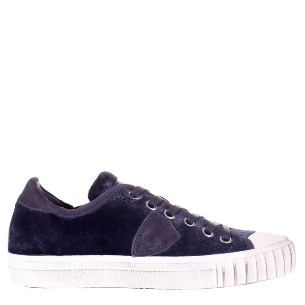 Philippe Model Sneakers Gare Velour, Donna, Basse, Blu