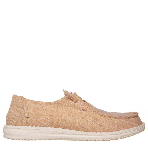 Hey Dude Wendy slip-on, Scarpe Basse Donna, Cotone, Lacci, Rose Gold, scarpe leggere, bassiniboutique.it