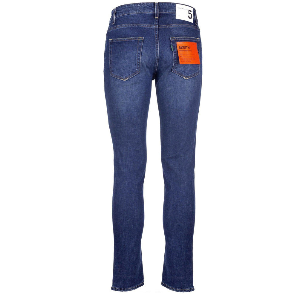 Department Five Jeans Uomo Skeith Streth, Chiusura Bottoni, Cotone, Blu Clothing DEPARTMENT FIVE - Bassini Boutique