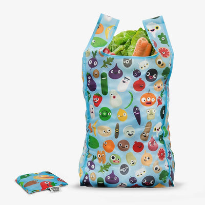 Bags - Vegan Ecological Reusable Shopping Bag - Simple Happy Characters
