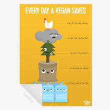 Prints - Every Day A Vegan Saves - Print