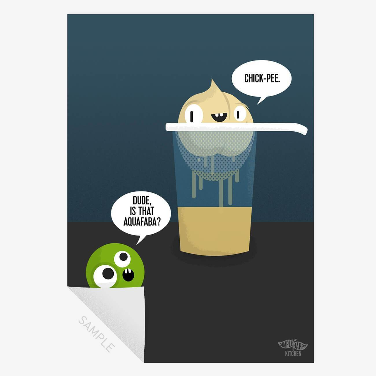 Prints - Vegan Aquafaba Chick-pee - Print