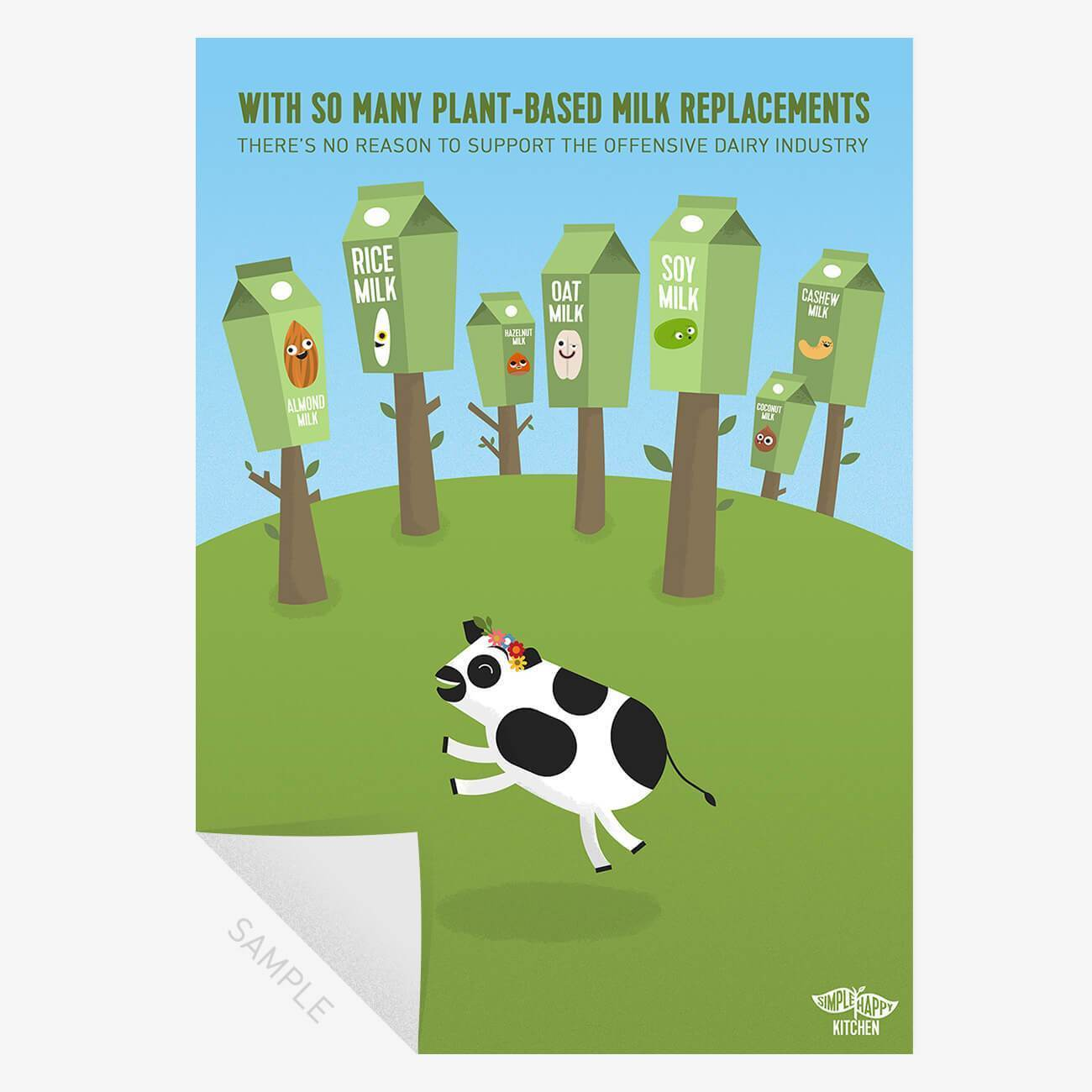 Prints - Vegan Plant Milk Replacements Print