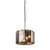 CHIC CH61281IC SMOKED GLASS 4 LIGHT PENDANT