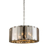 CHIC CH61294IC SMOKED GLASS 8 LIGHT PENDANT