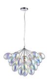 CHIC CH76450IC IRIDESCENT 6 LIGHT PENDANT