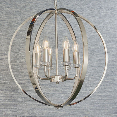 ENDON 81508 RITZ 6 LIGHT PENDANT