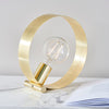 ENDON 81920 HOOP TABLE LAMP BRUSHED BRASS PLATE