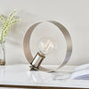 ENDON 90453 HOOP TABLE LAMP BRUSHED NICKEL