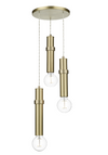 DAVID HUNT ADL0340 ADLING 3 LIGHT PENDANT BUTTER BRASS