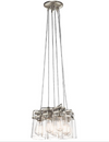 ELSTEAD KL/BRINLEY6 BRINLEY 6 LIGHT PENDANT NICKEL