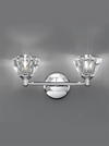 FRANKLITE FL2162/2 TWISTA WALL LIGHT CHROME