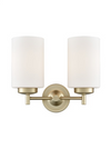 FRANKLITE FL2387-2 DECIMA DOUBLE WALL LIGHT MATT GOLD