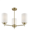 FRANKLITE FL2388-3 DECIMA 3 LIGHT MATT GOLD UP
