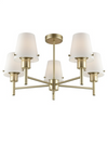 FRANKLITE FL2389-5/991 TURIN 5 LIGHT MATT GOLD