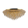 DIYAS IL332107 ALEXANDRA 9 LIGHT GOLD  FLUSH FITTING