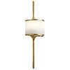 ELSTEAD KL/MONA/S NBR KICHLER MONA SMALL WALL LIGHT NATURAL BRASS