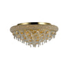 DIYAS IL32106 ALEXANDRA 7 LIGHT GOLD FLUSH CEILING LIGHT