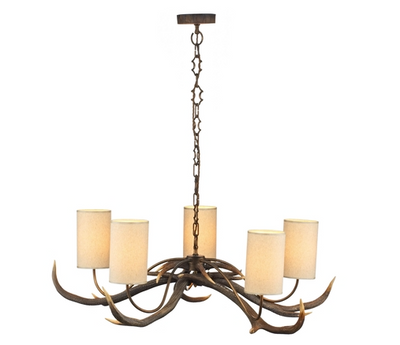 DAVID HUNT ANT0529S ANTLER 5 LIGHT PENDANT
