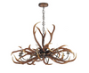 DAVID HUNT ANT0829E ANTLER EMPEROR 8 LIGHT PENDANT