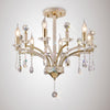 DIYAS IL32366 FIORE 6 LIGHT SEMI FLUSH FRENCH GOLD