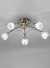 FRANKLITE FL2207/5 CHLORIS 5 LIGHT BRONZE