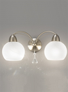 FRANKLITE FL2277/2 THEA DOUBLE WALL LIGHT SATIN NICKEL