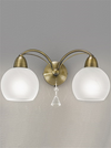 FRANKLITE FL2278/2 THEA DOUBLE WALL LIGHT BRONZE