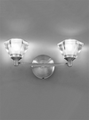FRANKLITE FL2294/2 TWISTA WALL LIGHT SATIN NICKEL