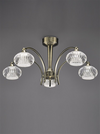 FRANKLITE FL2336/5 RIPPLE 5 LIGHT BRONZE