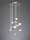 FRANKLITE FL2344/10 TIZZY 10 LIGHT PENDANT