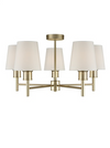 FRANKLITE FL2389-5/1123 TURIN 5 LIGHT MATT GOLD