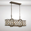 DIYAS IL31697 INDIE 6 LIGHT RECTANGULAR PENDANT