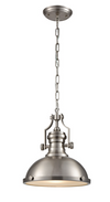 FRANKLITE PCH180 VISTA SATIN NICKEL PENDANT