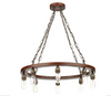 DAVID HUNT SA883 SADDLER CARTWHEEL 8 LIGHT PENDANT