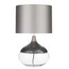 DAVID HUNT TEA4367 TEARDROP TABLE LAMP PEWTER