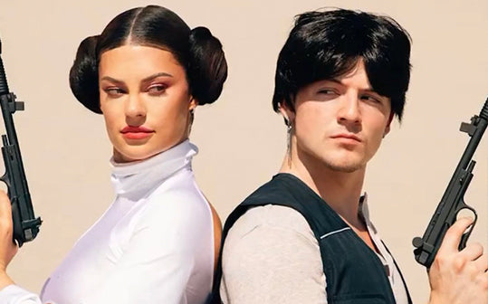 Hannah Stocking and Ondreaz in Star Wars