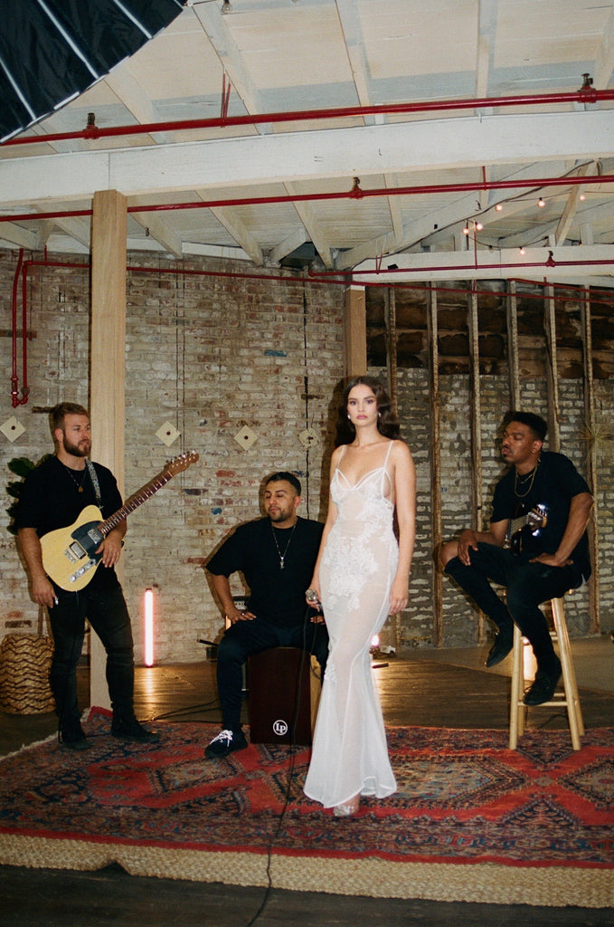 "Sabrina Claudio wear the LNH Slip Dress for her music video ""The Problem is You"""