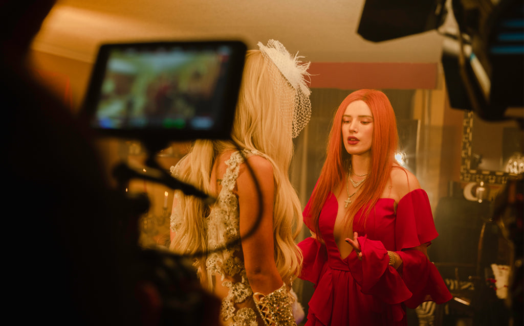Behind the scenes of Do Not Disturb with Gigi Gorgeous and Bella Thorne