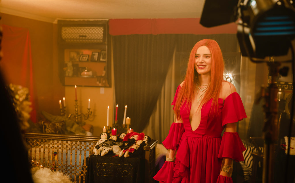 "Bella Thorne in LNH Sooki Dress for her ""Do Not Disturb Music Video"""