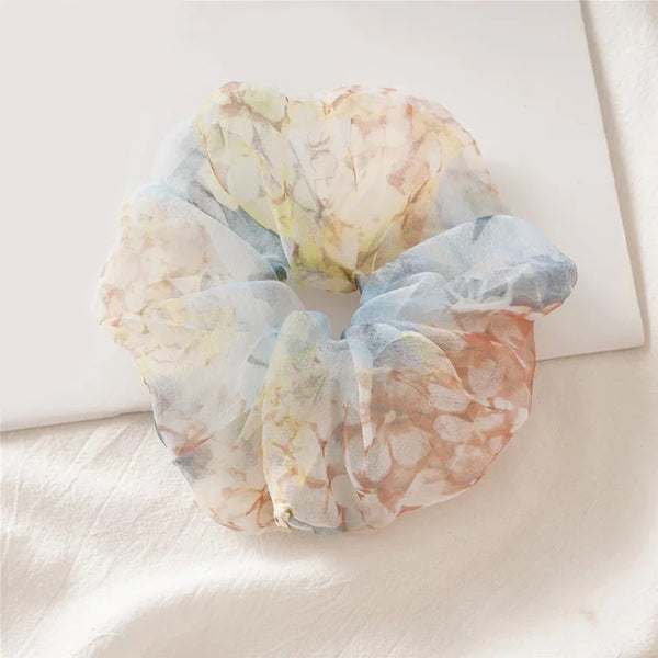 LNH PS I Love Blue Organza Scrunchie