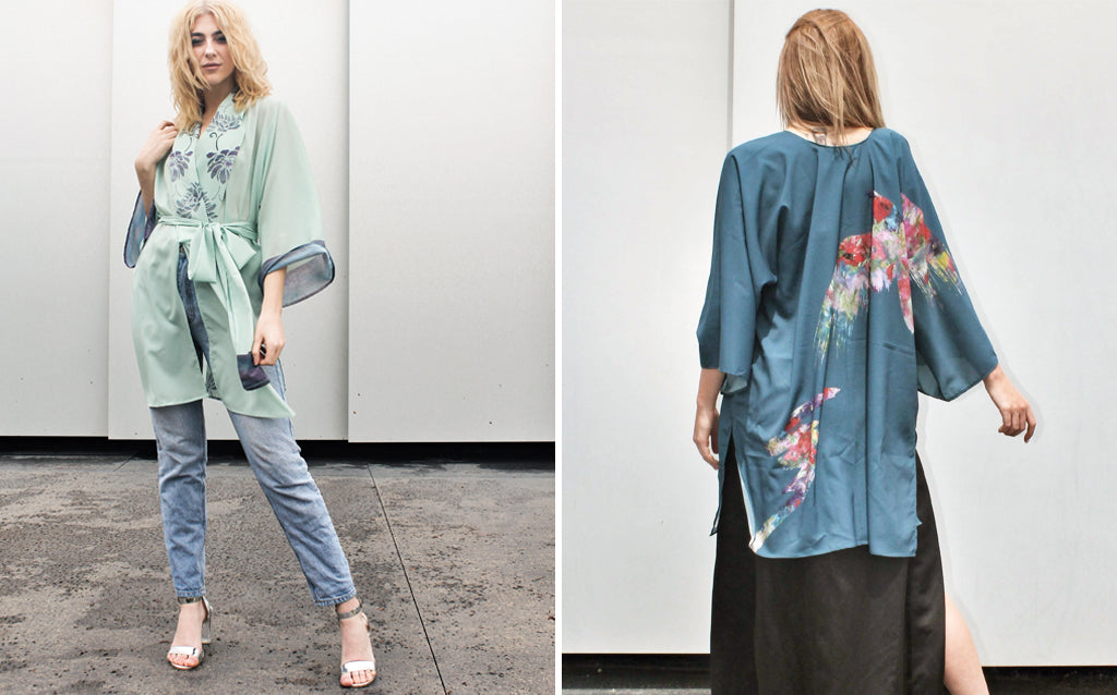 LNH Greece and New Zealand Kimono