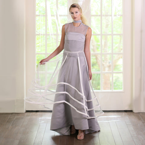 Mint Pleated Chiffon Dress
