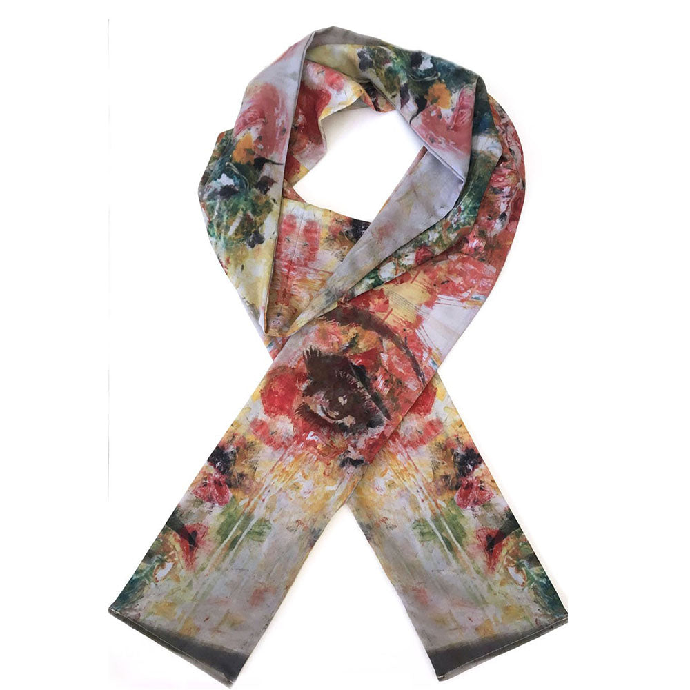 Colombia Wide Painted Scarf
