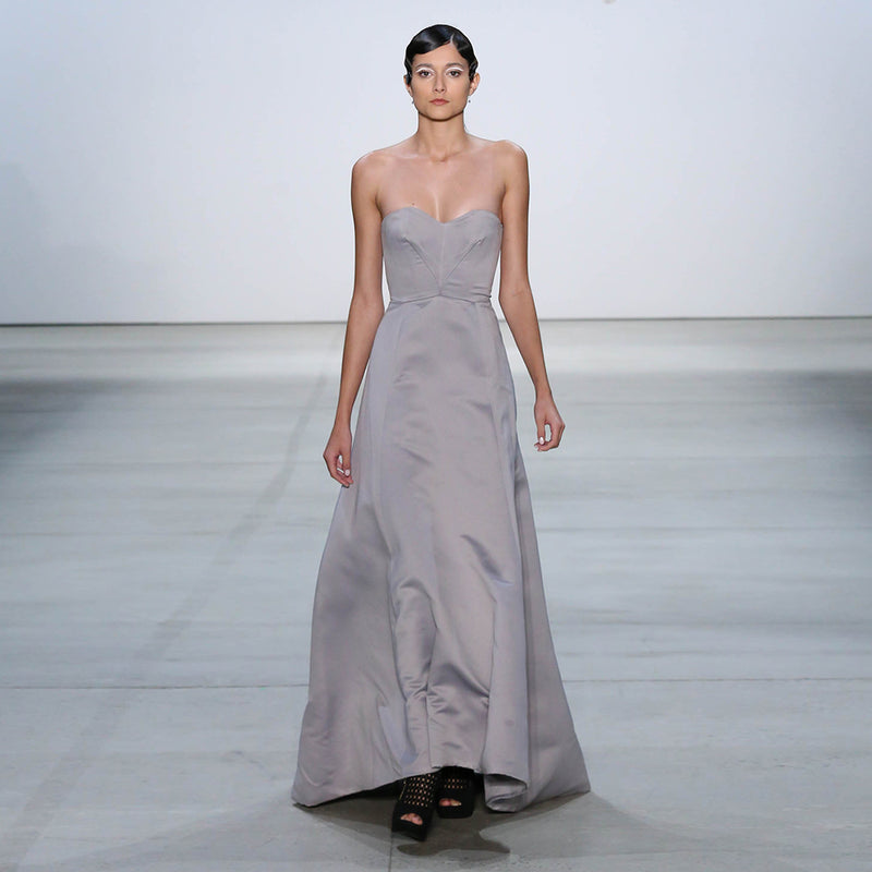 Grey Hi Low Gown