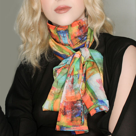 Eyes Wild Open Silk Scarf