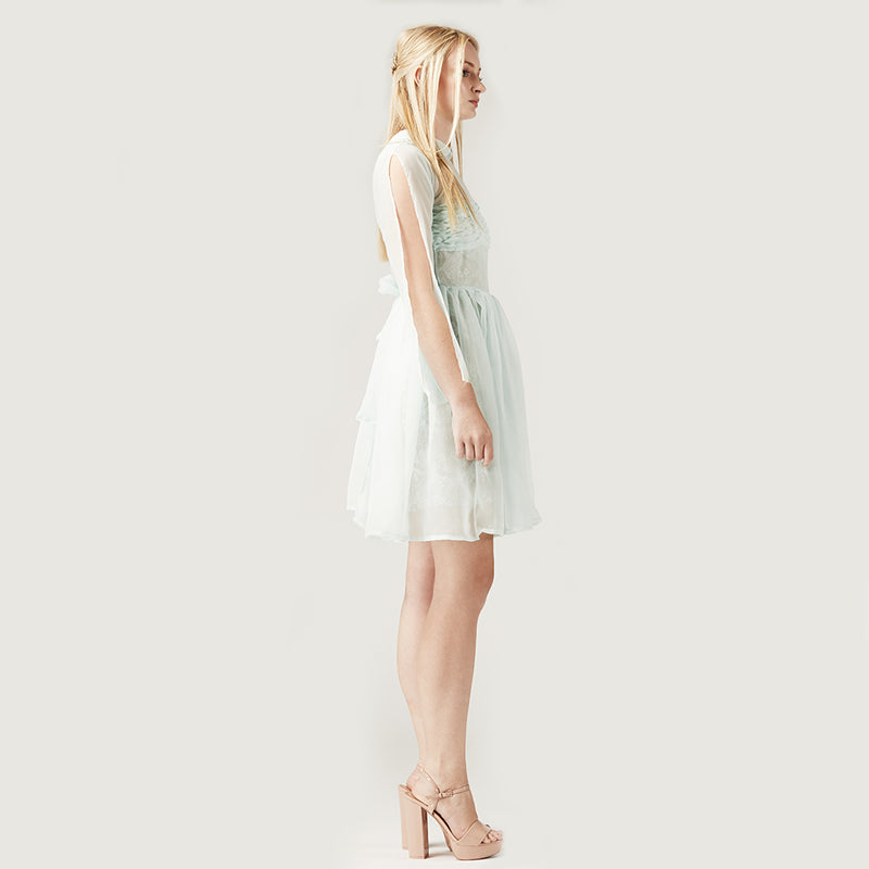 Mint Chiffon Dress