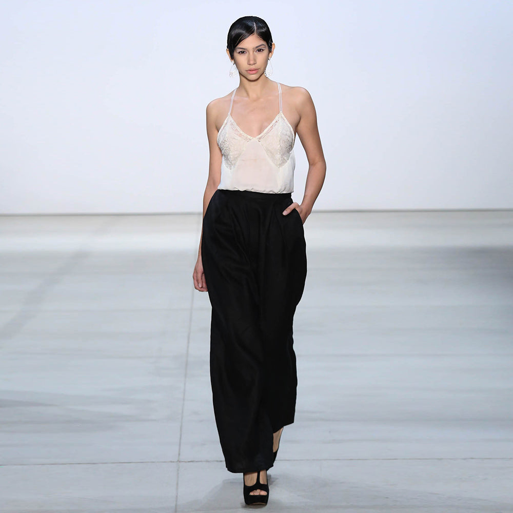 Off White Draped Camisole