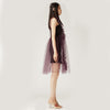 Purple Tulle Dress with Mesh Slip